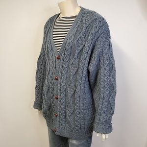 Vintage LL BEAN Irish Fisherman Cardigan Sweater